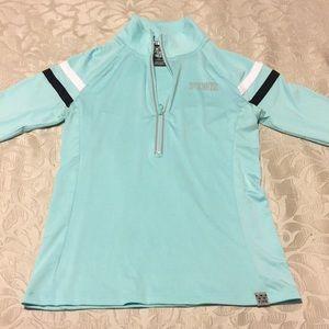 Victoria's Secret PINK turquoise quarter zip top